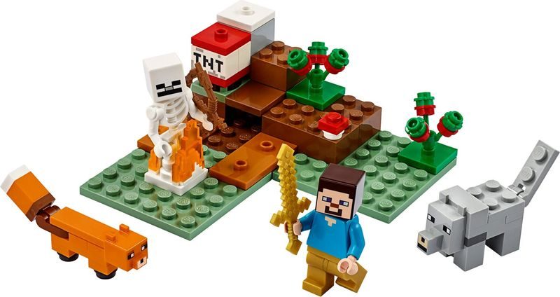 LEGO® Minecraft The Taiga Adventure components