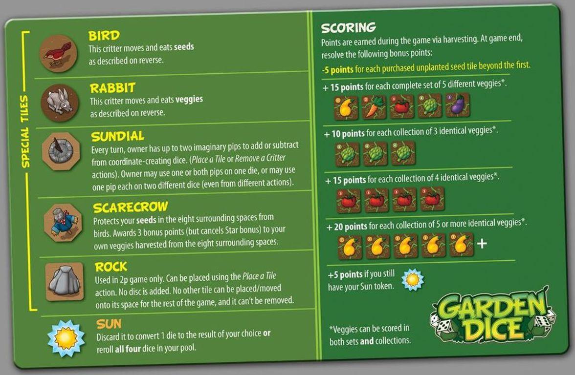 Garden Dice manual