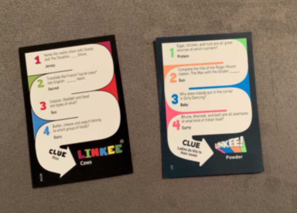 Linkee cards