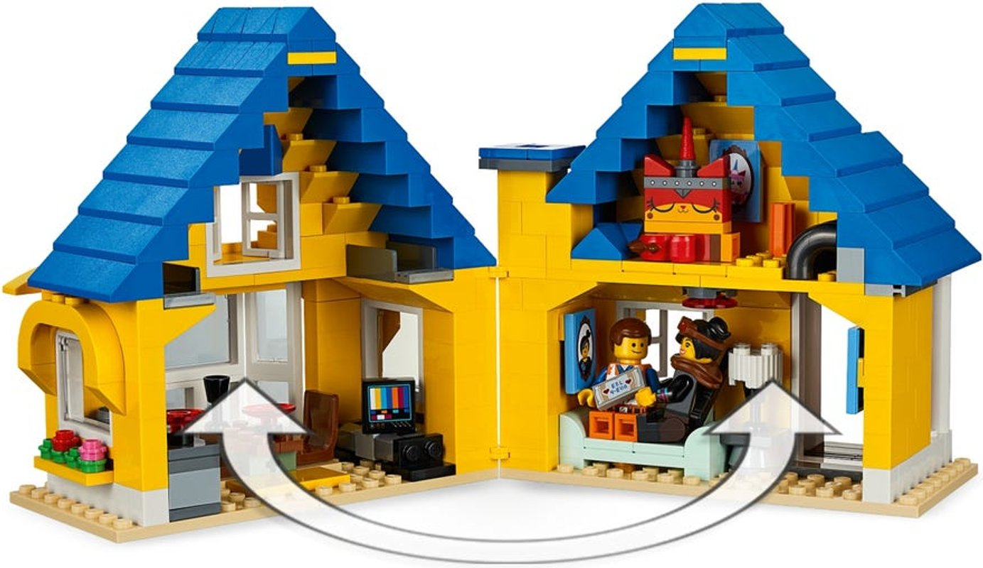 Emmet's Dream House with Rescue Rocket! interior
