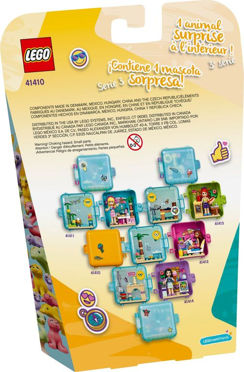 LEGO® Friends Andrea's Summer Play Cube back of the box