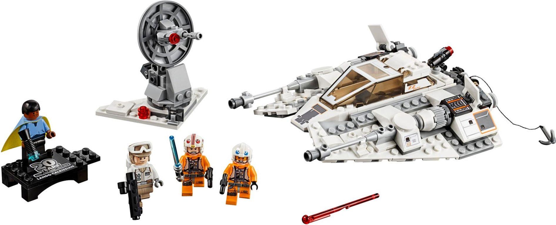 LEGO® Star Wars Snowspeeder™ – 20th Anniversary Edition components