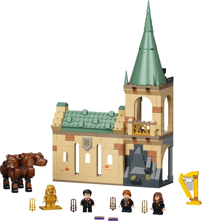 LEGO® Harry Potter™ Hogwarts™: Fluffy Encounter components