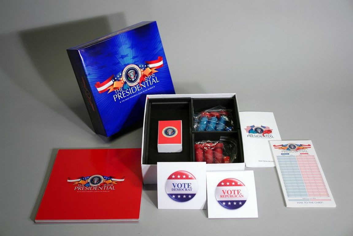 The Presidential Game components