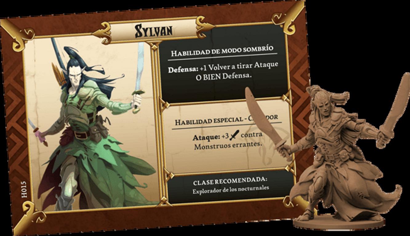 Massive Darkness: Heroes & Monster Set - Bloodmoon Assassins vs The Hellephant components