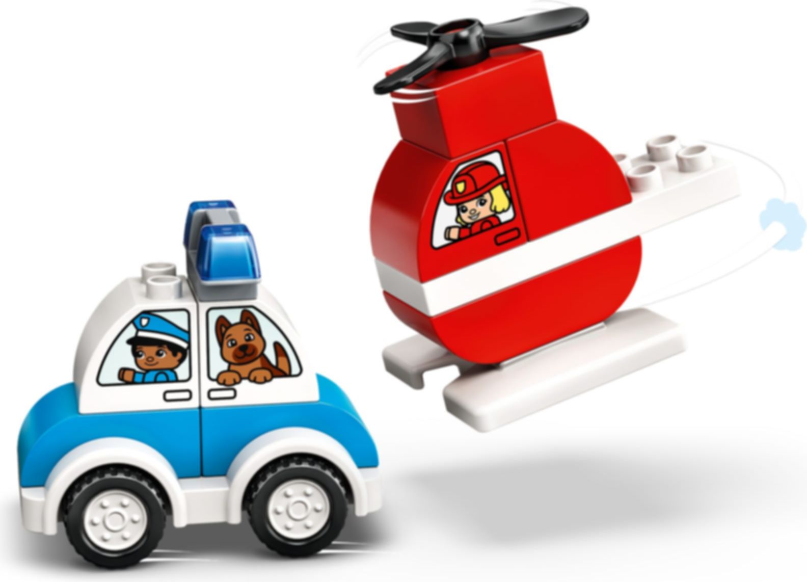 Fire Helicopter & Police Car components