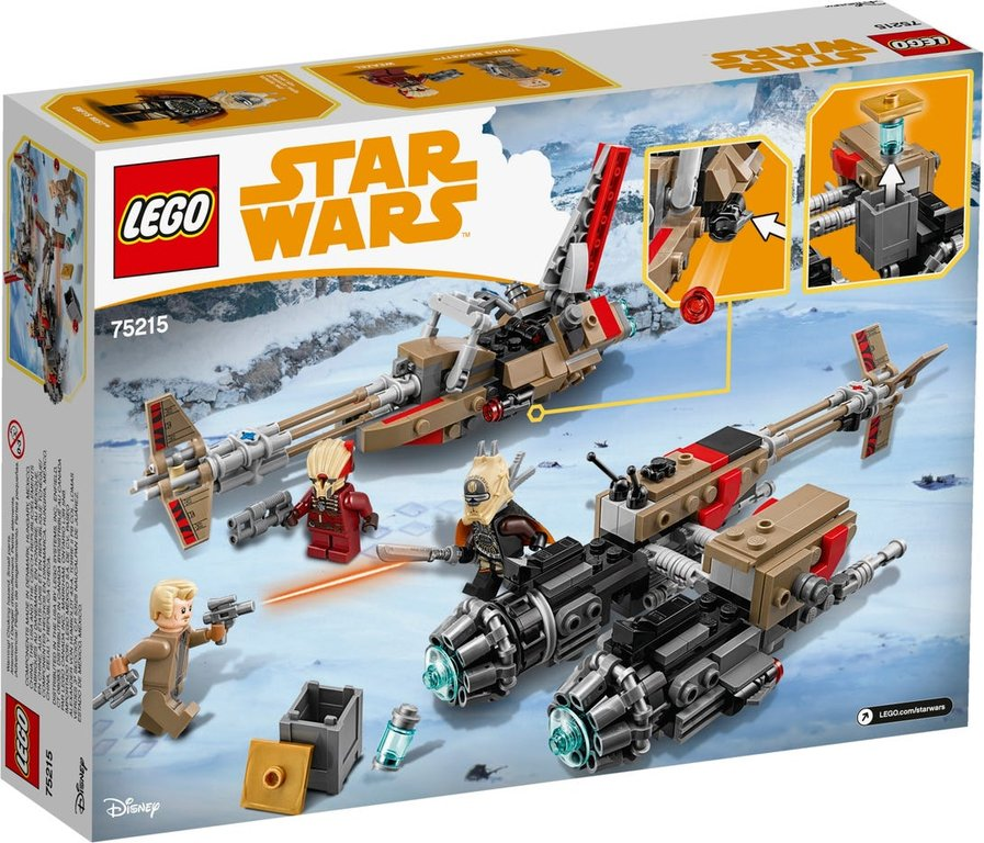 LEGO® Star Wars Cloud-Rider Swoop Bikes™ back of the box