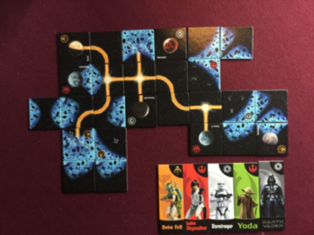 Carcassonne: Star Wars components