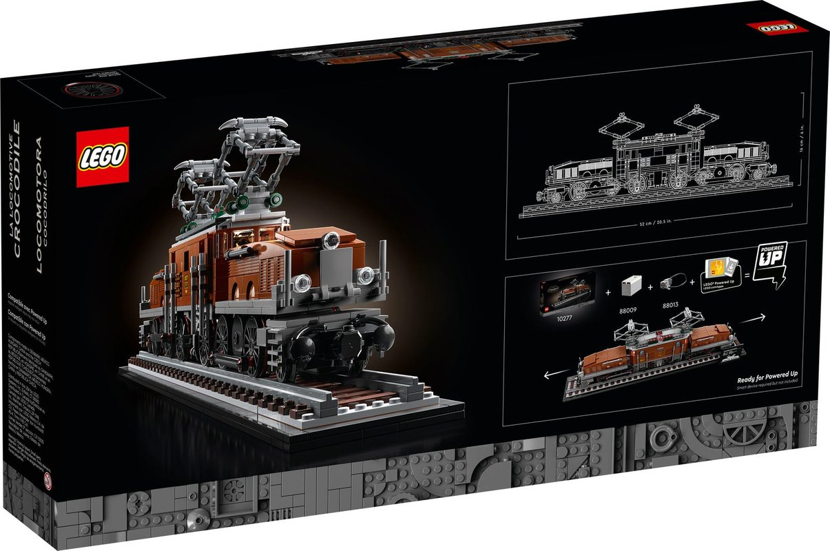 Crocodile Locomotive back of the box