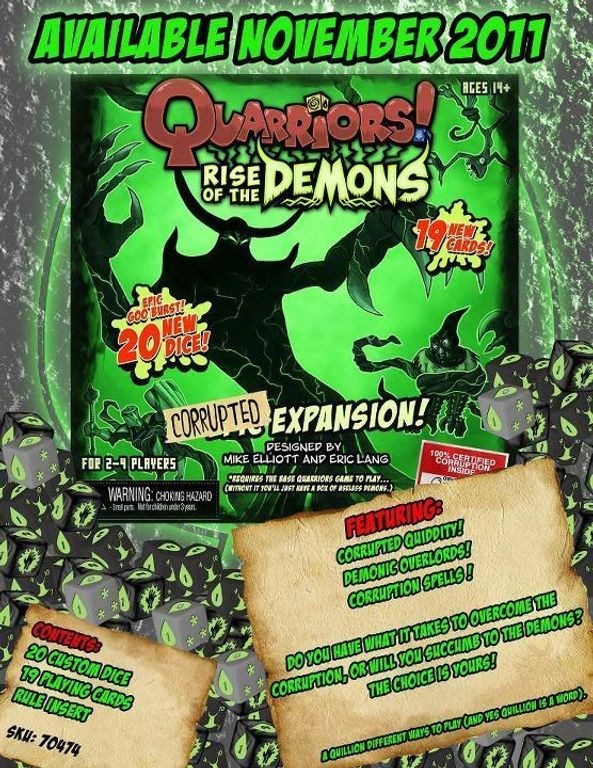 Quarriors! Rise of the Demons components
