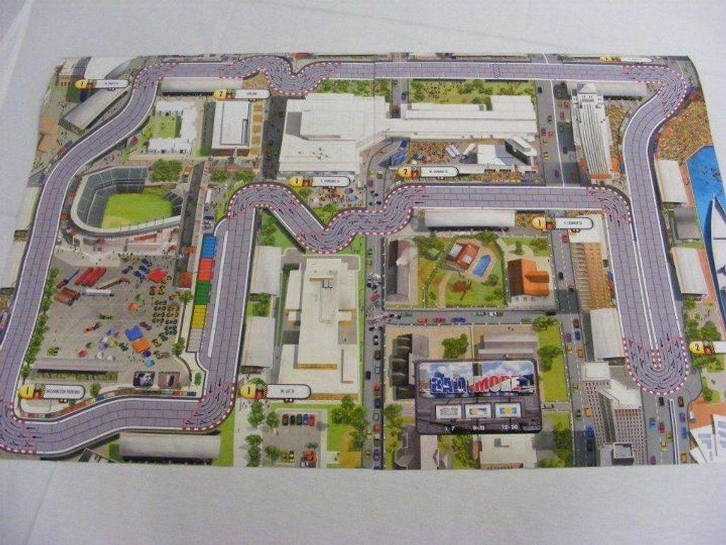 Formula D: Circuits 4 - Grand Prix of Baltimore & Buddh game board