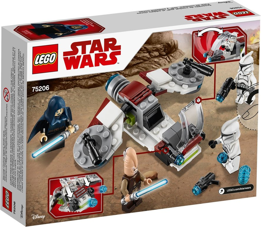 LEGO® Star Wars Jedi™ and Clone Troopers™ Battle Pack back of the box