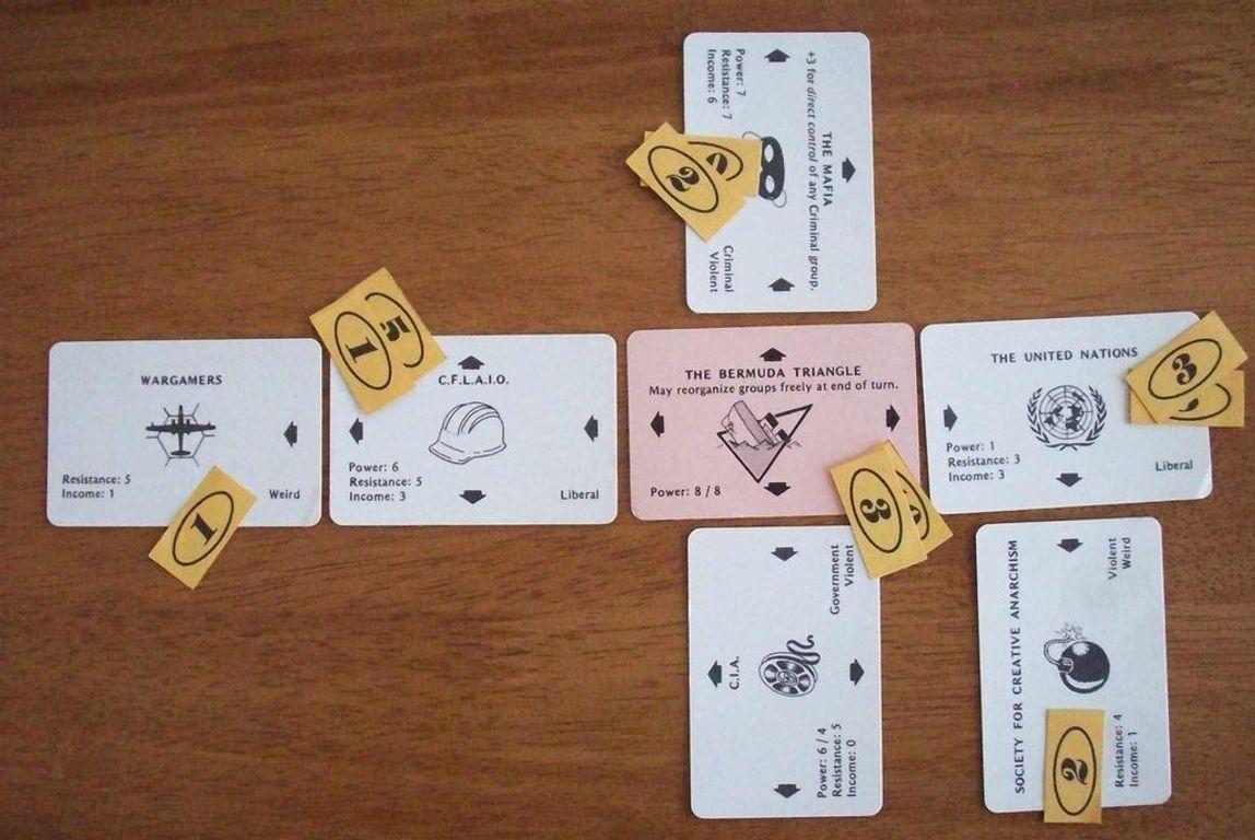 Illuminati: The Game of Conspiracy cards