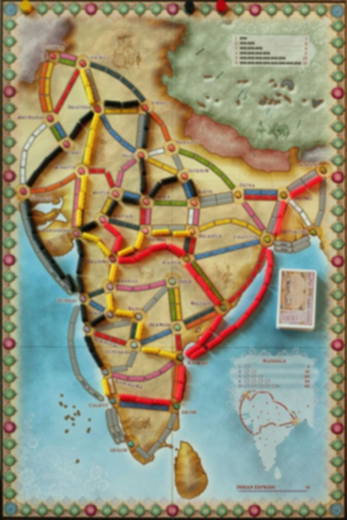 Ticket to Ride Map Collection: Volume 2 - India & Switzerland game board