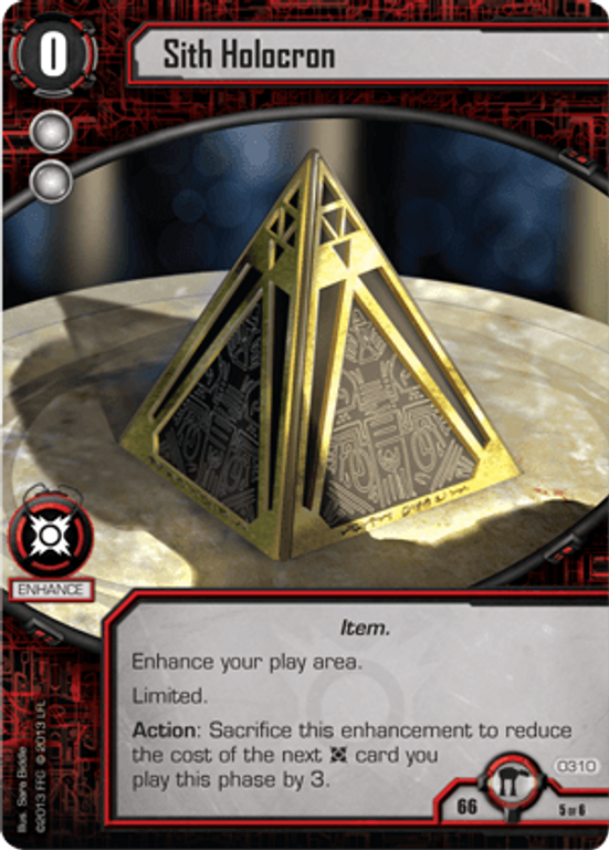 Star Wars: The Card Game - Escape from Hoth Sith Holocron card