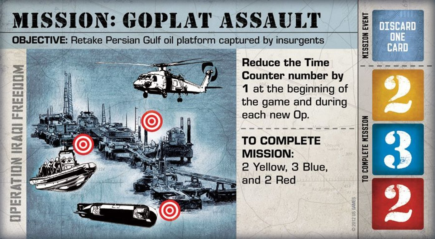 Hooyah: Navy Seals Card Game Mission Gplat assault card