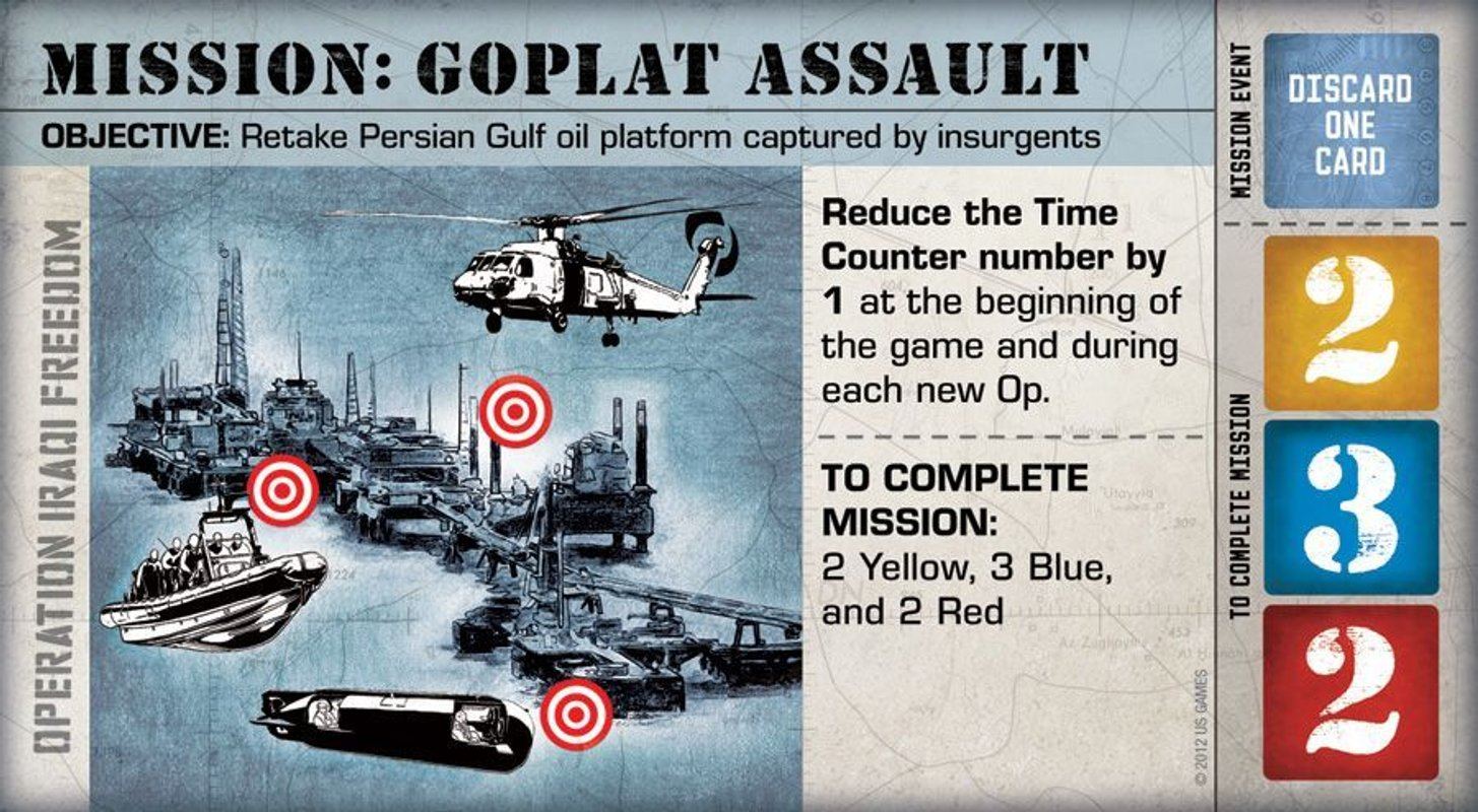 Hooyah: Navy Seals Card Game Mission Gplat assault card