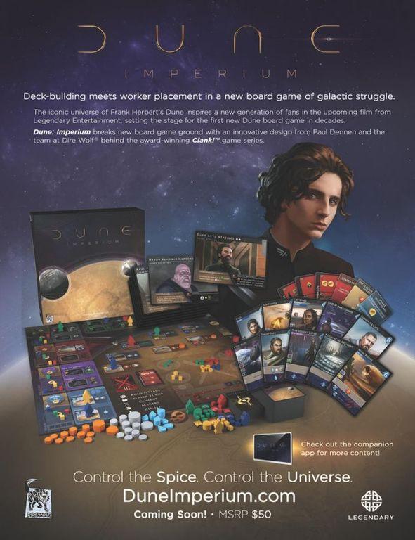 Dune: Imperium back of the box
