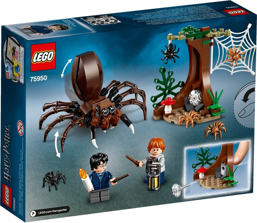 LEGO® Harry Potter™ Aragog's Lair back of the box
