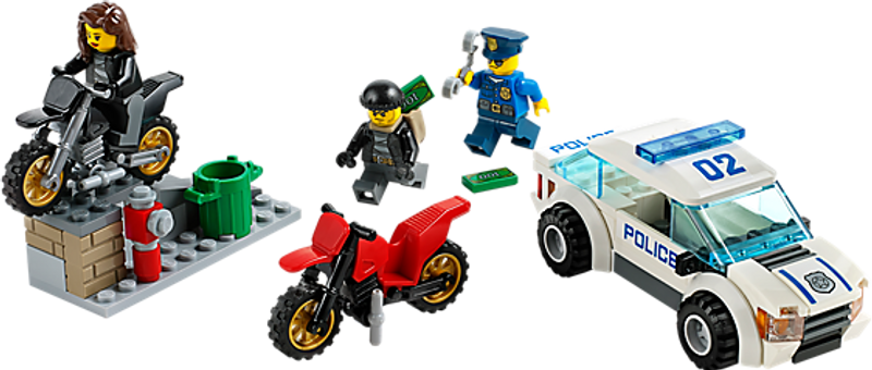 LEGO® City High Speed Police Chase components