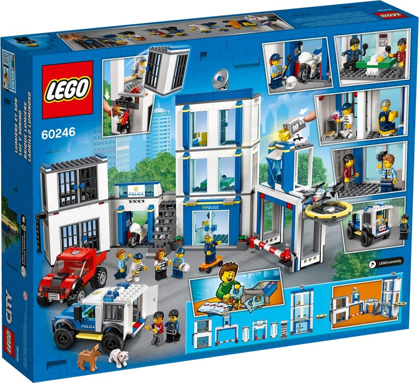 LEGO® City Police Station back of the box