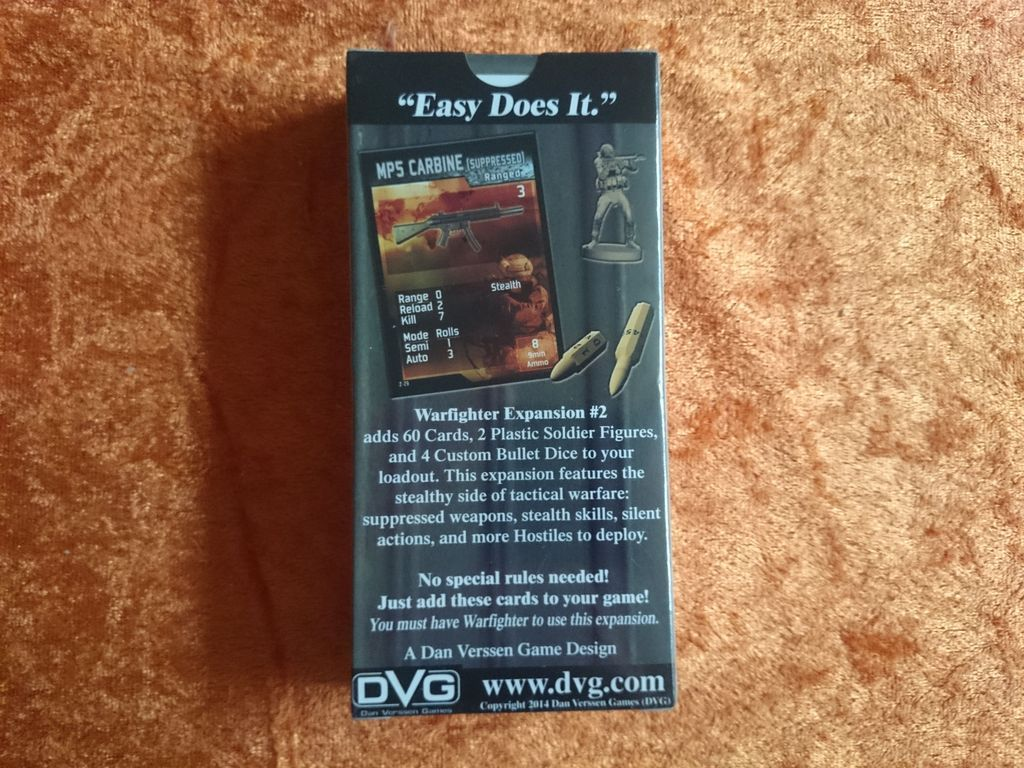 Warfighter Expansion #2: Stealth back of the box