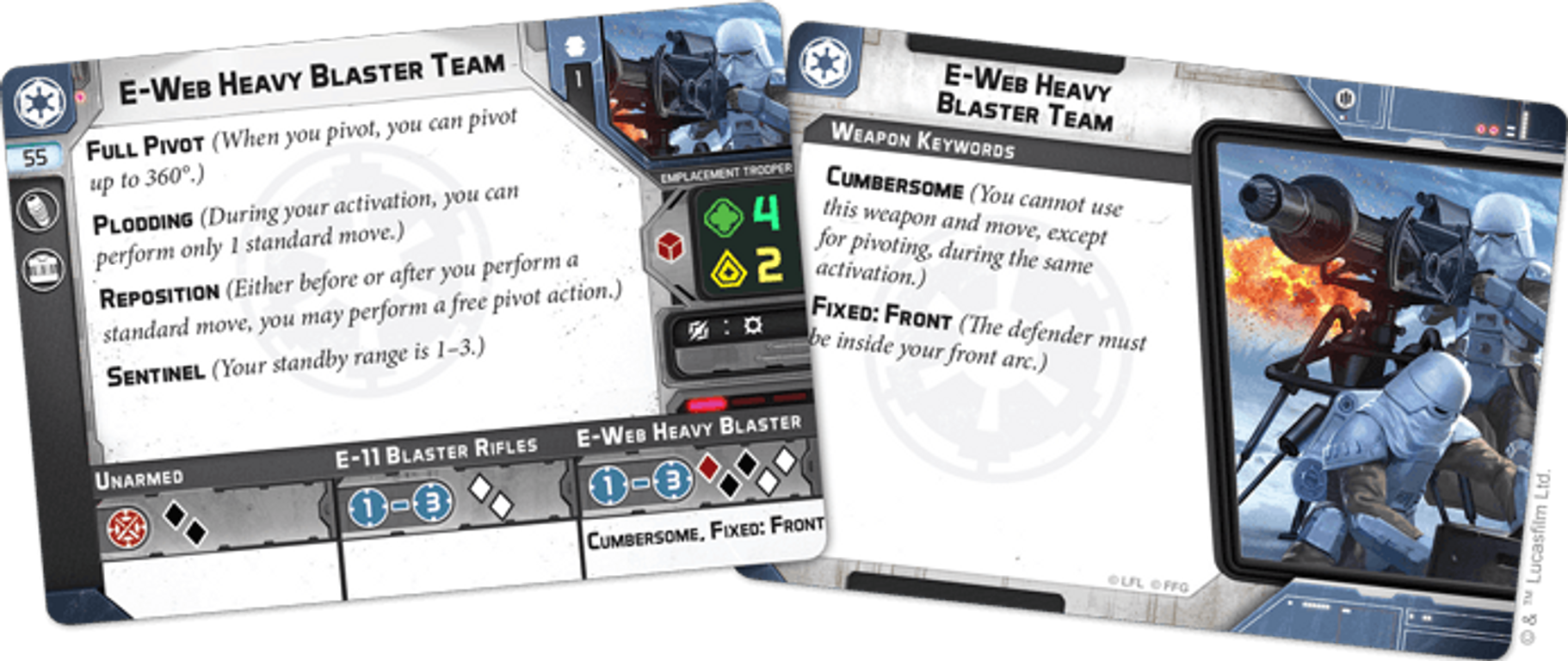 Star Wars: Legion – E-Web Heavy Blaster Team Unit Expansion cards