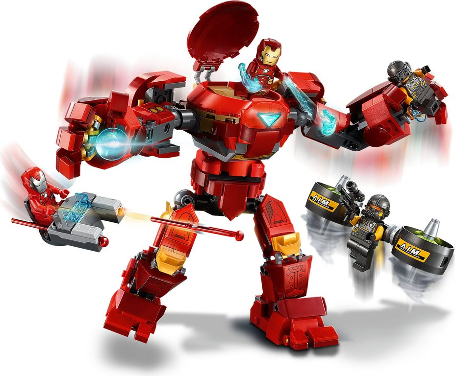 LEGO® Marvel Iron Man Hulkbuster versus A.I.M. Agent gameplay