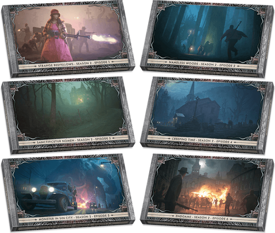 Cthulhu: Death May Die - Season 2 Expansion cards