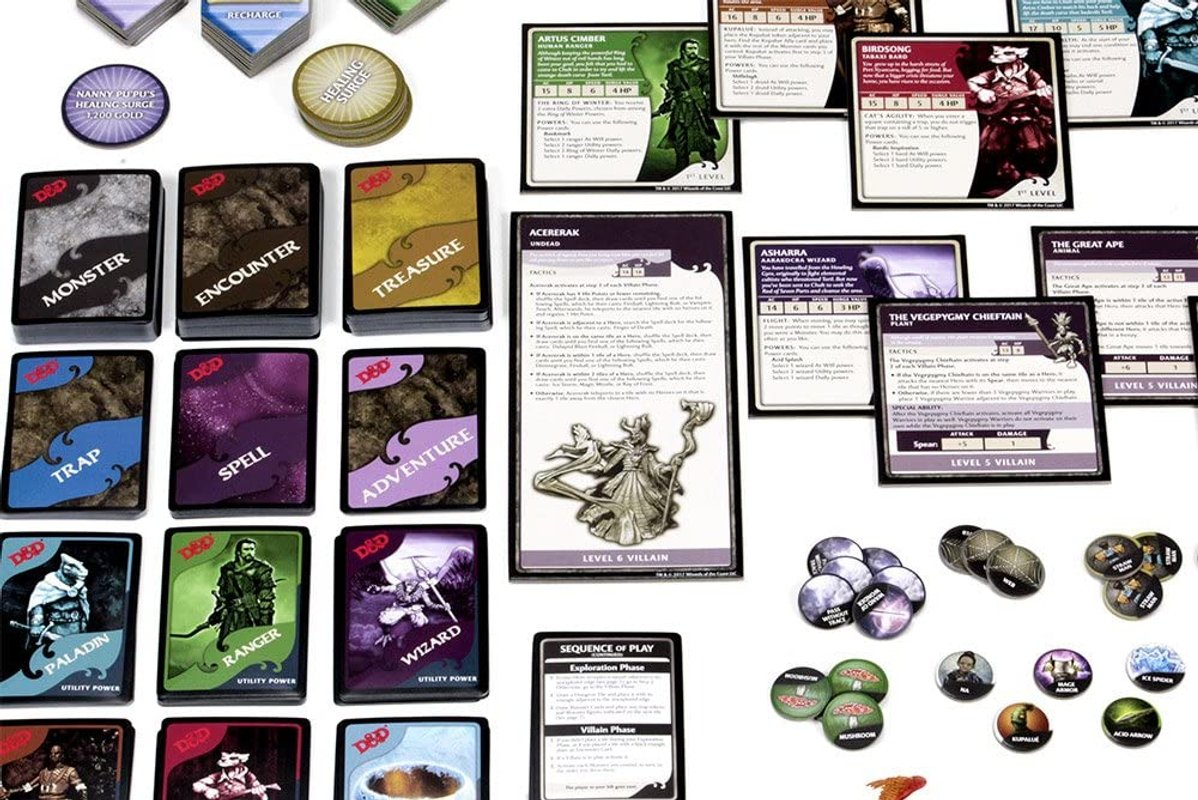Dungeons & Dragons: Tomb of Annihilation Board Game - Premium Edition components