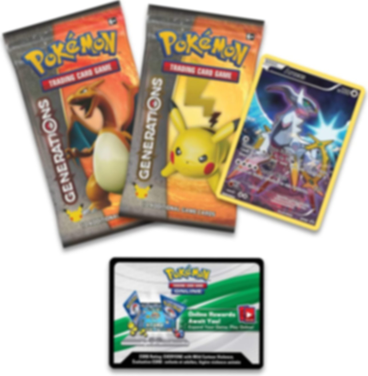 Arceus Mythical Pokémon Collection components
