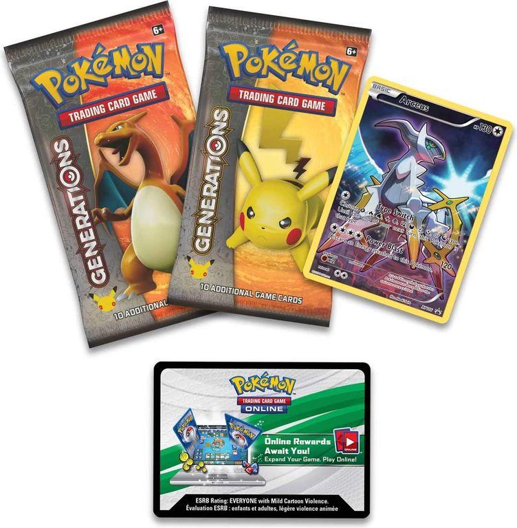 Arceus Mythical Pokémon Collection components