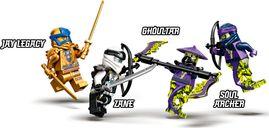 Zane's Titan Mech Battle minifigures