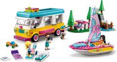LEGO® Friends Forest Camper Van and Sailboat gameplay