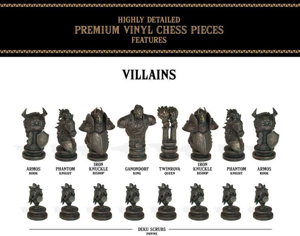 The Legend of Zelda Collector's Chess Set villains