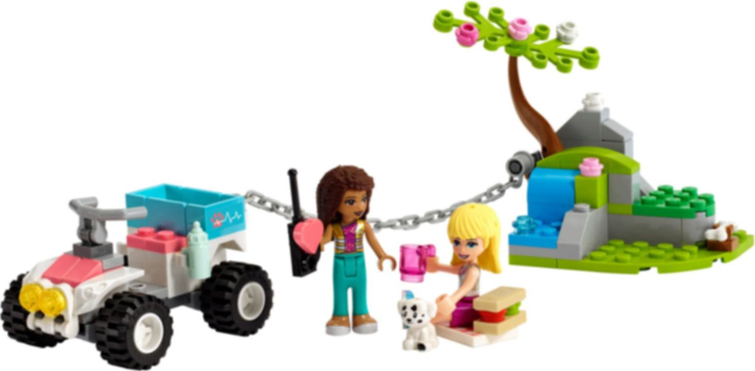 LEGO® Friends Vet Clinic Rescue Buggy components