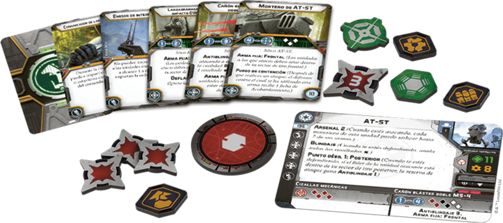 Star Wars: Legion - AT-ST Unit Expansion components