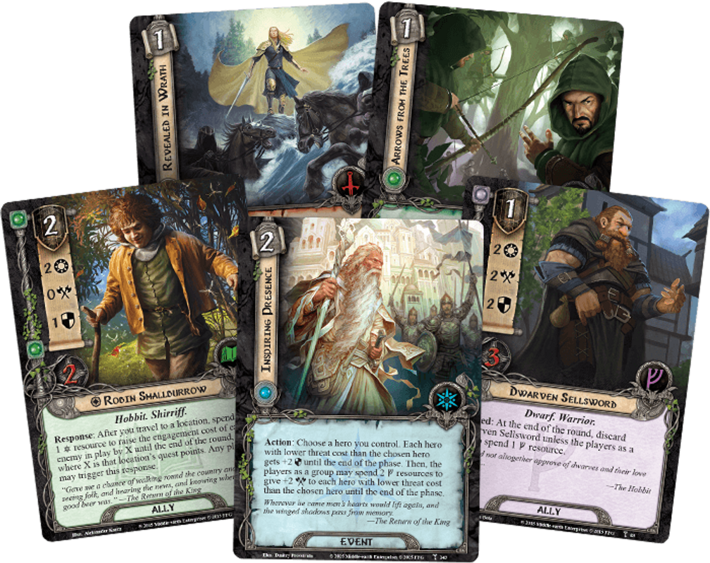 The Lord of the Rings: The Card Game - Flight of the Stormcaller cards