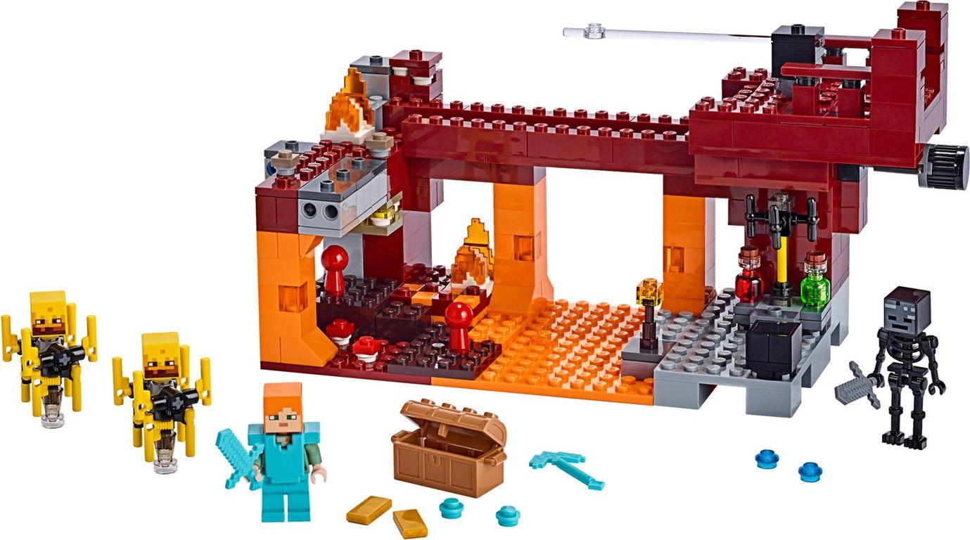 LEGO® Minecraft The Blaze Bridge components