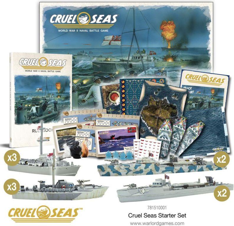 Cruel Seas: Starter Set components