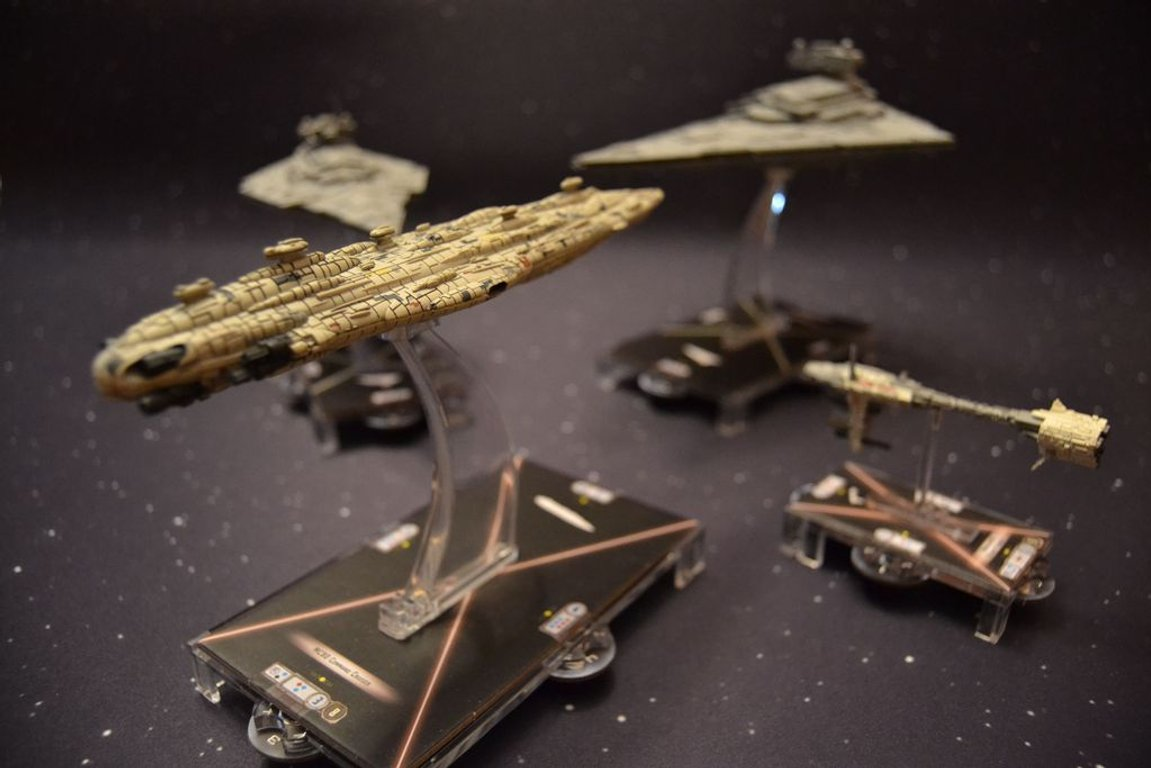 Star Wars: Armada - Home One Expansion Pack components