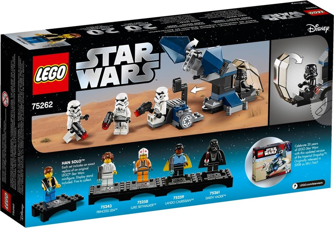 LEGO® Star Wars Imperial Dropship™ – 20th Anniversary Edition back of the box
