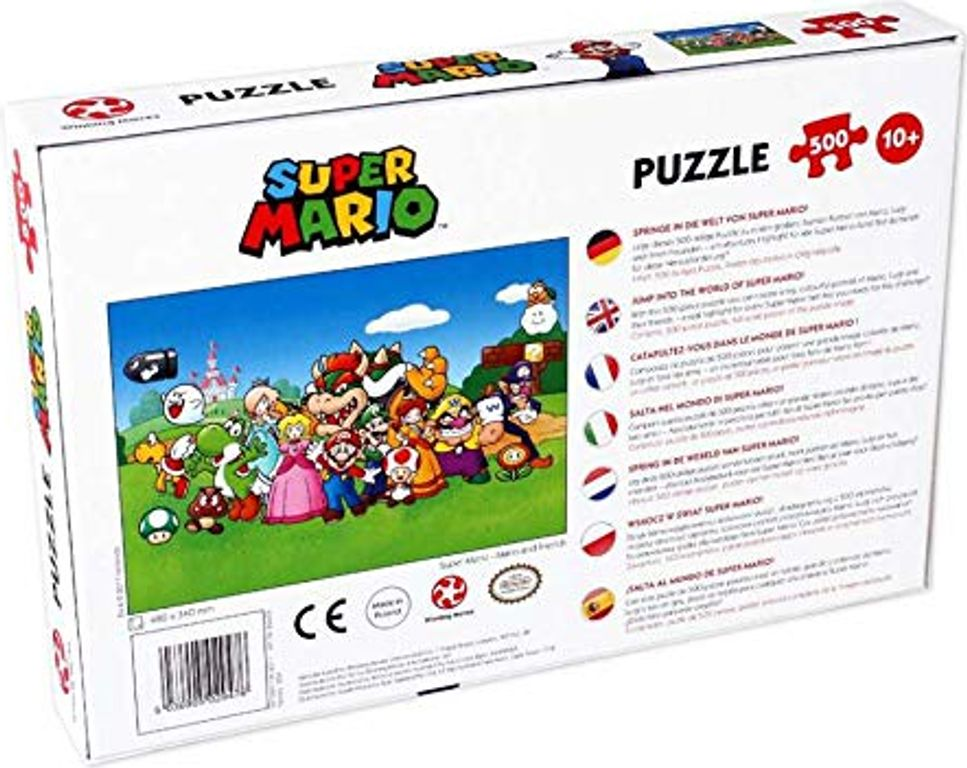 Mario and Friends back of the box