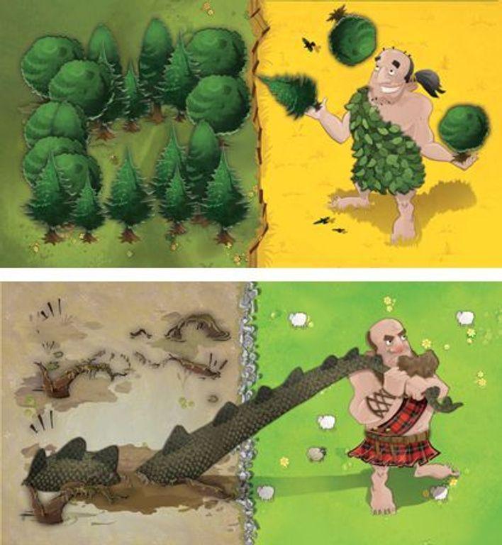 Kingdomino: Age of Giants tiles