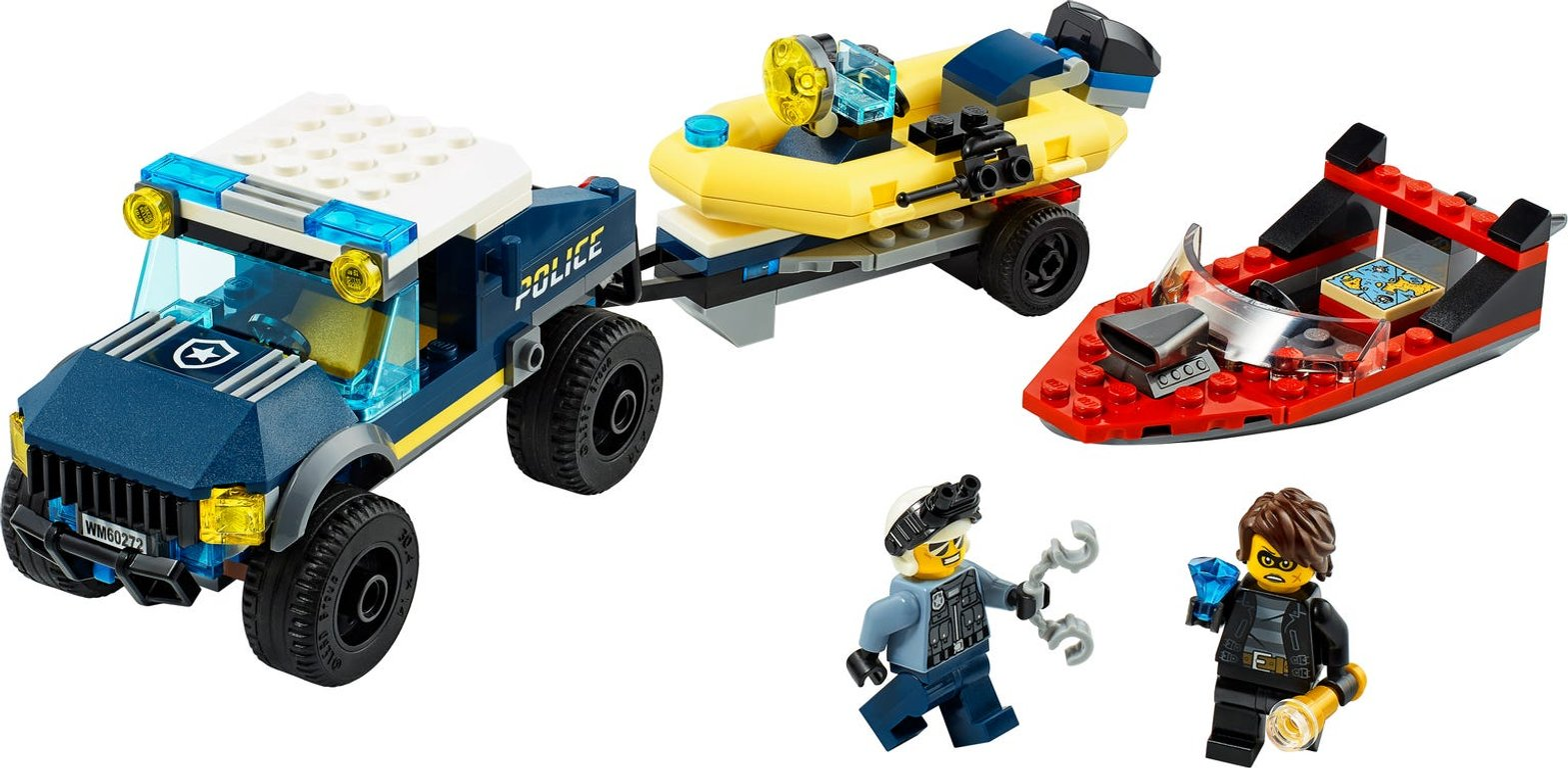 LEGO® City Police Boat Transport components