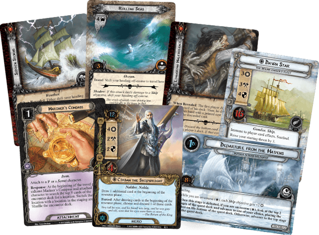 The Lord of the Rings: The Card Game - The Grey Havens cards