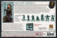A Song of Ice & Fire: Tabletop Miniatures Game – Greyjoy Heroes I back of the box