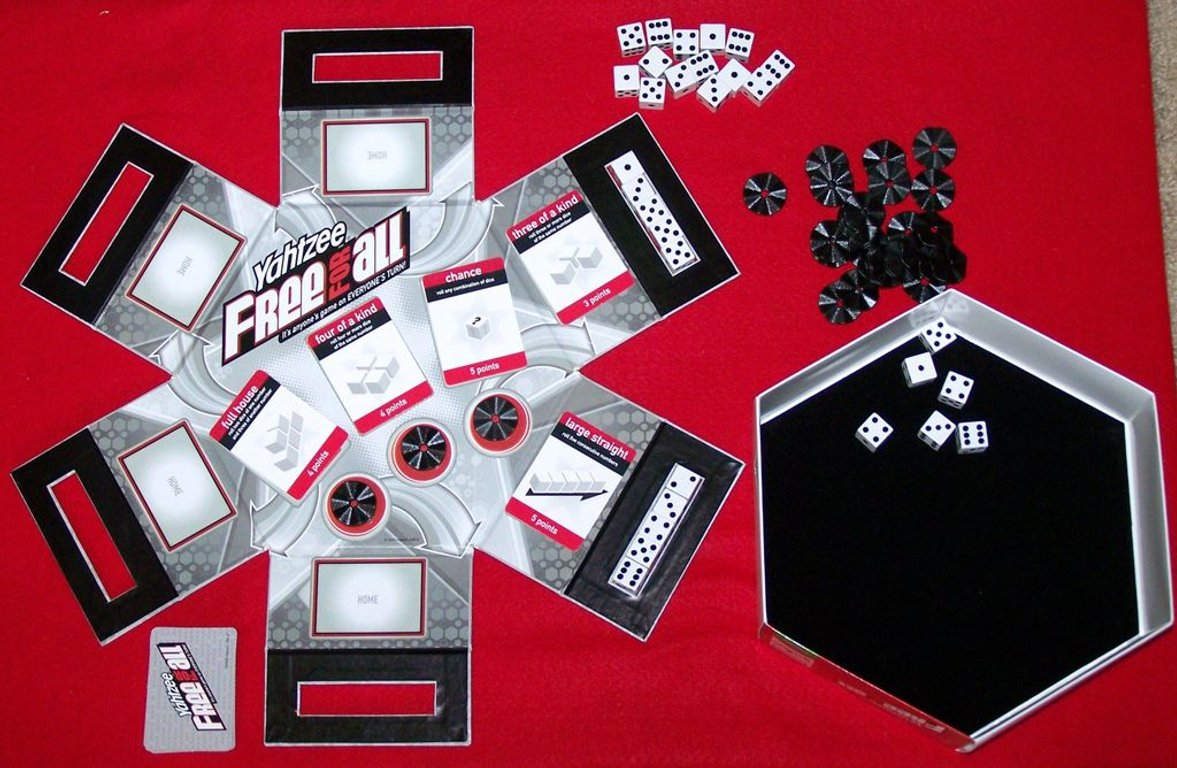 Yahtzee Free for All components