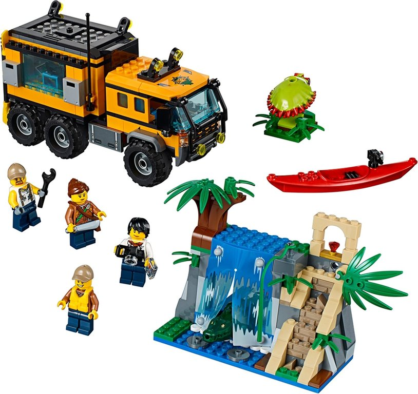 LEGO® City Jungle Mobile Lab components