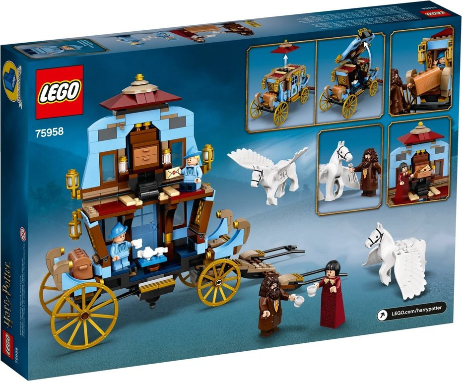 LEGO® Harry Potter™ Beauxbatons' Carriage: Arrival at Hogwarts™ back of the box